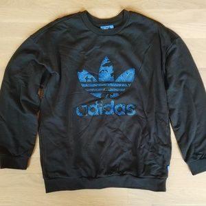Adidas trefoil logo pullover with pockets